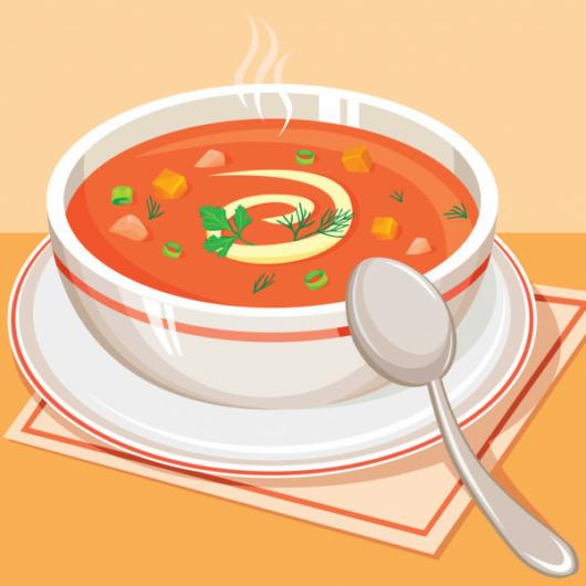 Thai-tom yum leves, kókusztejjel, friss korianderrel, rizzsel
